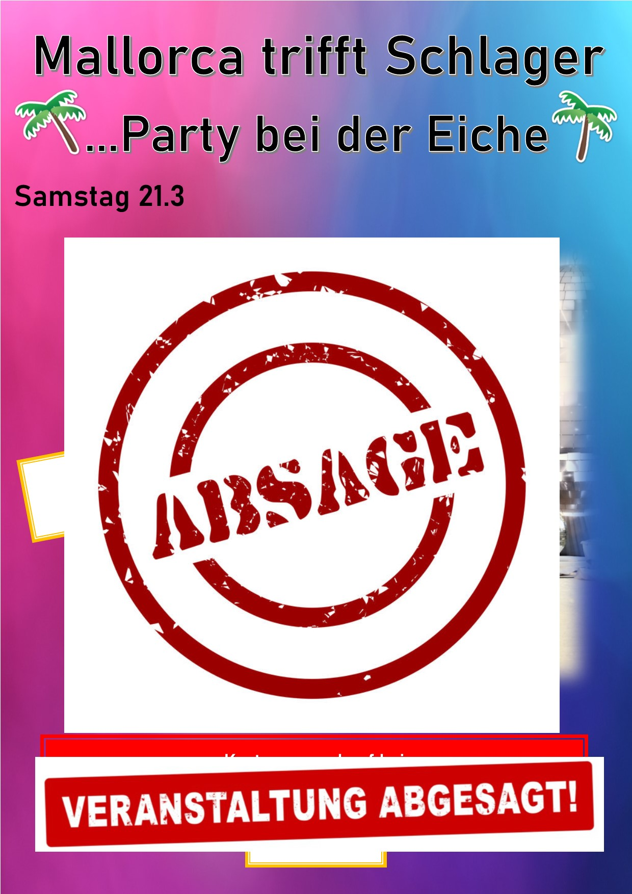 Absage - Mallorca trifft Schlager